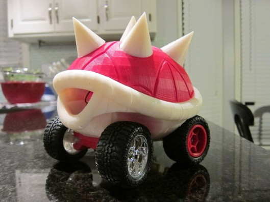 3D Printed Turtle Shell Racers  pink, 3d object, 3d printing,